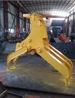 现代R60机械式抓木器 抓废铁 抓铁器 厂家供应