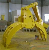 现代R75挖掘机五爪抓木器 抓铁器 抓废铁木头 厂家供应