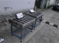 300公斤电动滚筒秤应用于快递物流
