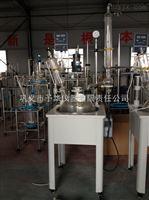 单层玻璃反应釜双回流一体化标准口冷凝管认准予华仪器含税包邮